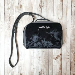 kendall + kylie velvet camera purse with dust bag